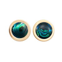 Mini Falls Forever Earrings  (abalone inlay)