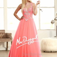 Plunging Sweetheart Neckline Prom Ball Gown By Mac Duggal 48258H