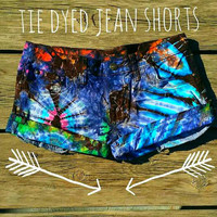 Tie Dyed Jean Shorts