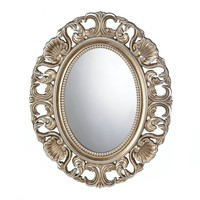 Gilded Oval Decorative Wall Mirror