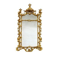 Pre-owned Large Rectangular Ornate Gilt Mirror