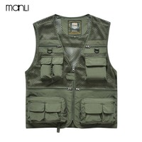 MANLI Tactical Vest Outdoor Sport Waistcoats Size M-3XL Jeep Vest Military Fishing Hunting Vest Sleeveless Jacket Nerf Vest