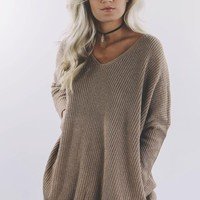 New Song Mocha Knit Sweater
