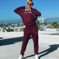 Champion tide brand female casual sports suit two-piece