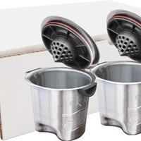 Ekobrew Stainless Steel Refillable K-cup for Keurig 2.0 and 1.0 Brewers, 2- Count
