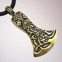 ODIN'S AXE Pewter Pendant