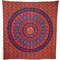 Indian Flower Circle Tapestry on Sale for $22.95 at HippieShop.com