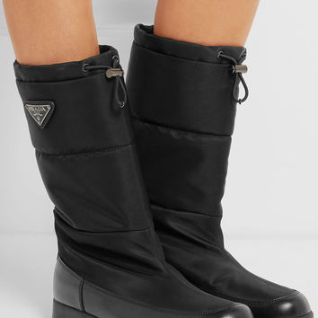 Prada - Leather and shell boots