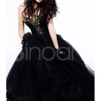 Buy Attractive Ball Gown Sweetheart Floor Length Prom Dress  under 300-SinoAnt.com