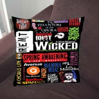 Broadway Musical Collage - Pillow Case, Pillow Cover, Custom Pillow Case *02*