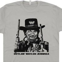 Outlaw Waylon Jennings T Shirt Vintage Country Music Shirts