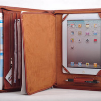 $109.90 Top grain Multifunctional leather iPad case as by HomemadeLeather
