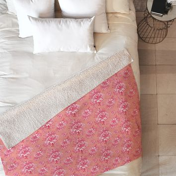 Caroline Okun Artichoktica Rosa Fleece Throw Blanket