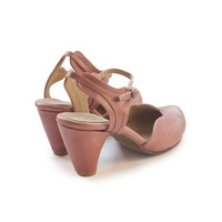 New! Pink Daisy Shoes,  Handmade Leather shoes, Heels women sandals , Women heels. free shiping
