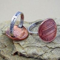 Penny For Your Thoughts Ring by NinaGibsonDesigns on Etsy