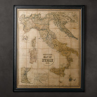 Stanford's 1859 Map of Italy