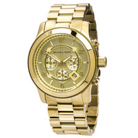Michael Kors Men's Chronograph Champagne Dial Gold Tone Stainless Steel MK8077