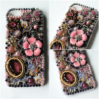 CAROUSEL of DREAMS iPhone 5 Case // Purple Pink // Vintage Flower Garden Horse Butterfly Romantic Crystals // Kawaii Cute Girly Lolita Cover