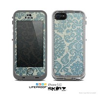 The Subtle Green Lace Pattern Skin for the Apple iPhone 5c LifeProof Case