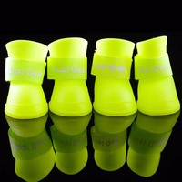 Superior Dog Shoes Waterproof Pet Anti slip design Teddy Rain Dog Boots Shoes Pet Outdoor Small Shoes Brand Pet Clothes BS