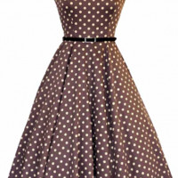 Black & White Polka Dot Hepburn Dress