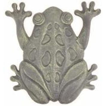 Frog Stepping Stone Antique Bronze