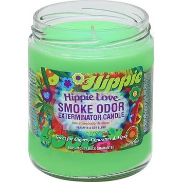 Smoke Odor Exterminator Candle Hippie Love