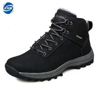Men's Winter Hiking Boots Mountain Trekking Anti-slip ShoesBreathable Comfortable Soft Mountain Shoes for Professional Men