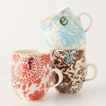 Homegrown Monogram Mug by Anthropologie in Assorted Size: