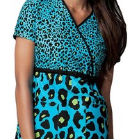 Buy Runway Women Spotted In Blue Mock Wrap Top for $21.95