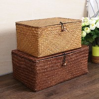 The Manual Straw Storage Box Lid Debris Consolidation Storage Box Storage Basket Sorting Box Jewelry Box