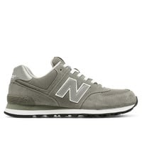 New Balance 574 - Grey Suede Mesh Athletic Sneaker