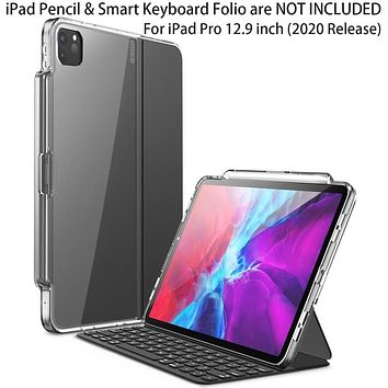 I-BLASON Halo Case For iPad Pro 12.9 (2020) [ONLY Compatible with Official Smart Keyboard Folio] Hybrid Cover with Pencil Holder