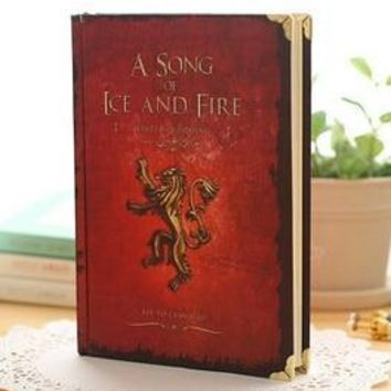JINGU Game of Thrones Notebooks Vintage Hardcover Notebook for Gift Movie A Song of Ice and Fire A5 Size Day Planner