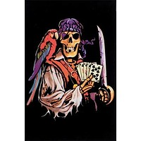Dead Man's Hand Black Light Poster 23x35