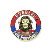 Bubbles For President Pin
