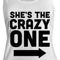 Women's She's The Crazy One Best Friend Cotton Tank Top