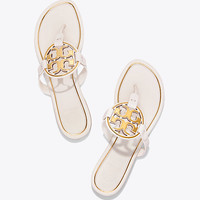 Tory Burch Miller Metal-logo Sandal, Leather