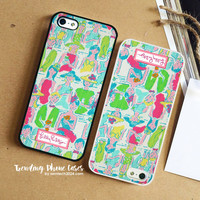Couple-Lilly Pulitzer iPhone Case Cover for iPhone 6 6 Plus 5s 5 5c 4s 4 Case