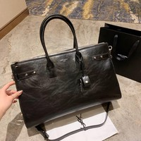 YSL Women Shopping Bag Leather Tote Handbag Satchel Bag