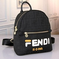 Fendi Casual Shoulder SchoolBag Satchel Handbag Backpack bag