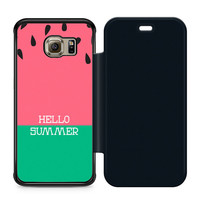 Watermelon Hello Summer Flip Samsung Galaxy S6 Edge Case