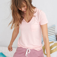 Aerie Real Soft® Stretch Pocket Tee, Tender Heart