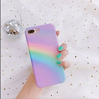Creative Fans Rainbow iPhone7Plus Case Iphone 6s / 6p Phone Case All-inclusive personality