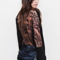Blue Life - V-Neck With Lace Back - TOPS