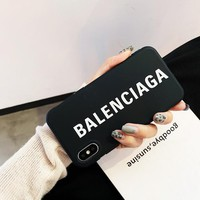 Black Balenciaga Case for iPhone 7 8 X XR XSMAX
