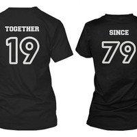 Custom Couple Shirts - Together Since - Cute Personalized Matching Shirts