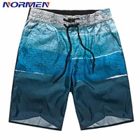 NORMEN Brand Clothing Men's Fashion Board Shorts Map Printing Shorts For Men Swimsuit Swimwear Men's Shorts Hot Sale Plus Size