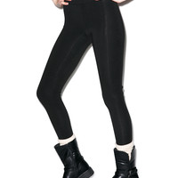 Groceries Apparel Seam Leggings Black