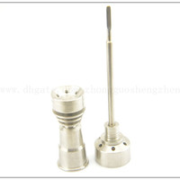 2015 New Domeless Titanium Smoking Nail 14mm/18mm Female with Carb Cap Dabber Grade 2
